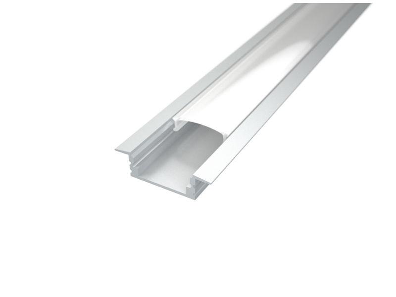 LED profil, Recessed 1, mliječni pokrov, 2m