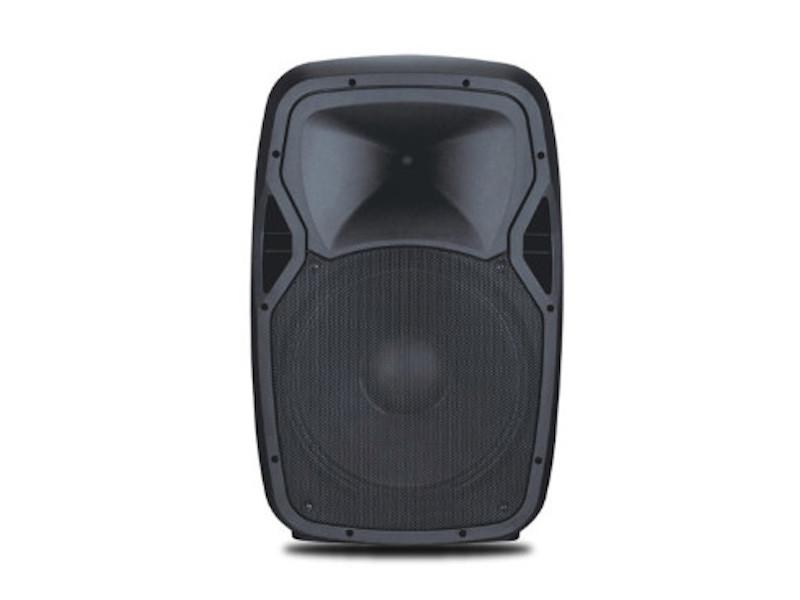 Tesla Prijenosni zvučnik/mini razglas s punjivom baterijom + 1 bežični mikrofonVHF+naglavni Mikrofon 50W RMS, 15″, MP3, USB, SD, BT, Mixer, EQ