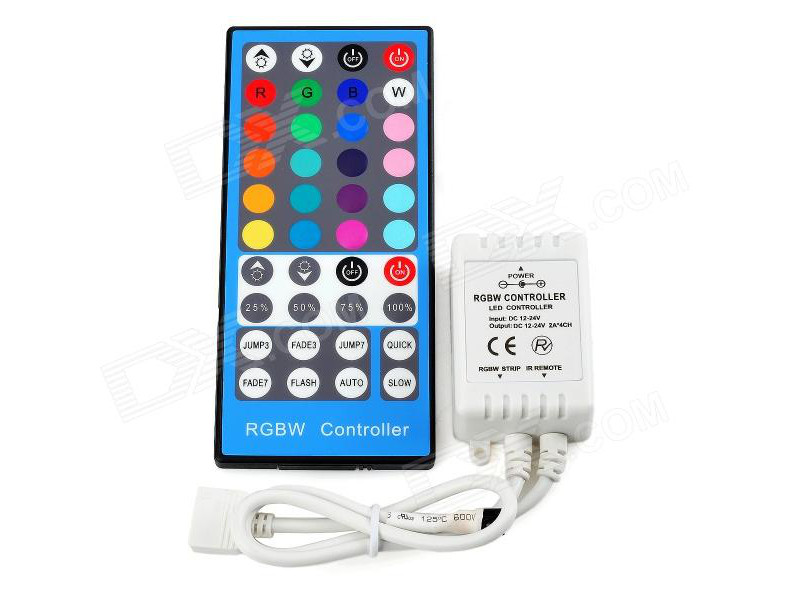 Kontroler LED traku  RGBW  IR, 6A