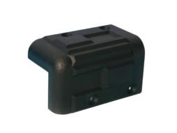 Adam Hall Kutnik plastični, za kabinete, crni 56x92mm