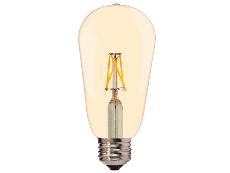 Optonica LED žarulja E27 ST64 4W 400LM 2700K topla bijela 175-265V Zlatno staklo