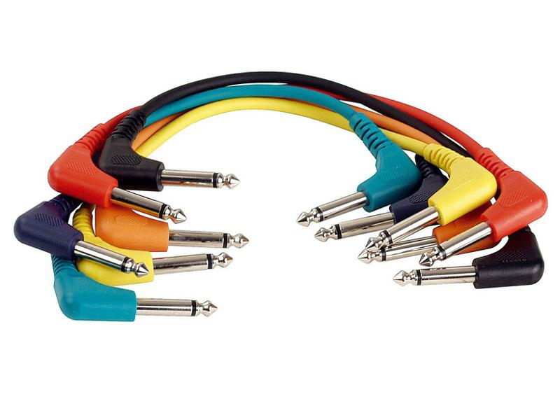 Tesla Gotovi kabel 6,3mm mono M kutni / 6,3mm mono M kutni, set 6 komada, 0,75m