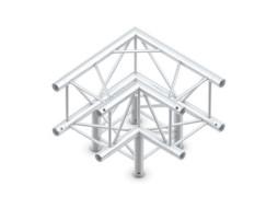 Milos Alu konstrukcija, kvadratna, kut 3 strane, pod 90°, 50x50x50cm + spajalice