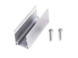 LED FLEX-NEON aluminij CHANNEL WITH 2 SCREWS, 5CM SINGLE COLOUR – Optonica