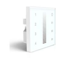 LED kontroler zidni ugradbeni, dimer za bijelu led traku 12/24A, 4 zone