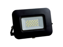 LED SMD radni reflektor crni EPISTAR 20W AC170-265V 150° IP65 vodootporno 6000K hladna bijela 70CM kabel – Optonica