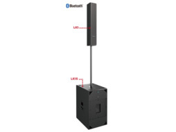 Razglasni sistem L83+L83S, aktivni, 1250W RMS, class D pojačalo, bluetooth – Audiocenter