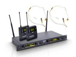 LD Systems Bežični mikrofonski set s 2x belt pack i 2x headset bež 516-558MHz  WIN 42 BPHH 2 B 5