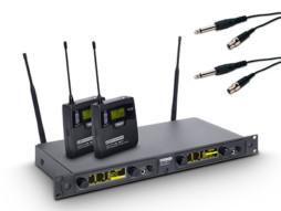 LD Systems Bežični mikrofonski set s 2x belt pack i 2x kabel za gitaru 584-607MHz  WIN 42 BPG 2 B 5
