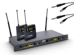 LD Systems Bežični mikrofonski set s 2x belt pack i 2x kabel za gitaru 734-776MHz  WIN 42 BPG 2