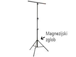 Stalak za rasvjetu s T-barom (80cm s 4 vijka), visina 1,5-3,15, magneziijski zglob, nosivost 30kg – Athletic