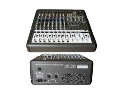 Mikser GTP-860 PRO, s pojačalom, 2 x 650 W/4 Ohma, 8 ulaza, USB/MP3 player, multiefekt – X-Audio