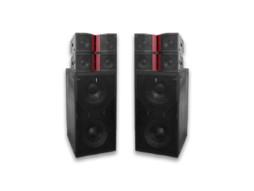 Audiocenter 2 subwoofera zvučna kutija dual 18″ 2800W RMS aktivna DSP + 4 zvučne kucije dual 10″ 1600W RMS aktivne Line array 2Way DSP