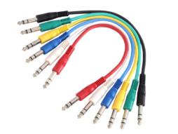 Adam Hall Gotovi kabel patch u bojama stereo jack 6,3mm / stereo jack 6,3mm, set 6 kom 60cm