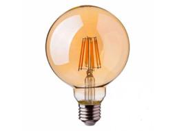 LED žarulja G125,  E27, 6W, 2700K, amber dimabilna