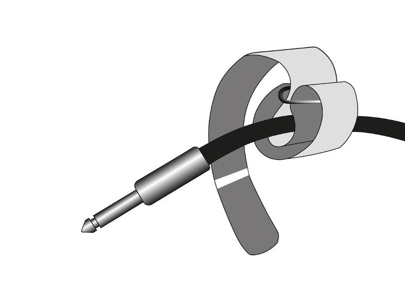 Adam Hall Vezice za kabel na čičak 200 x 20 mm zeleno/crne
