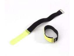 Adam Hall Vezice za kabel na čičak 200 x 20 mm žuto/crne