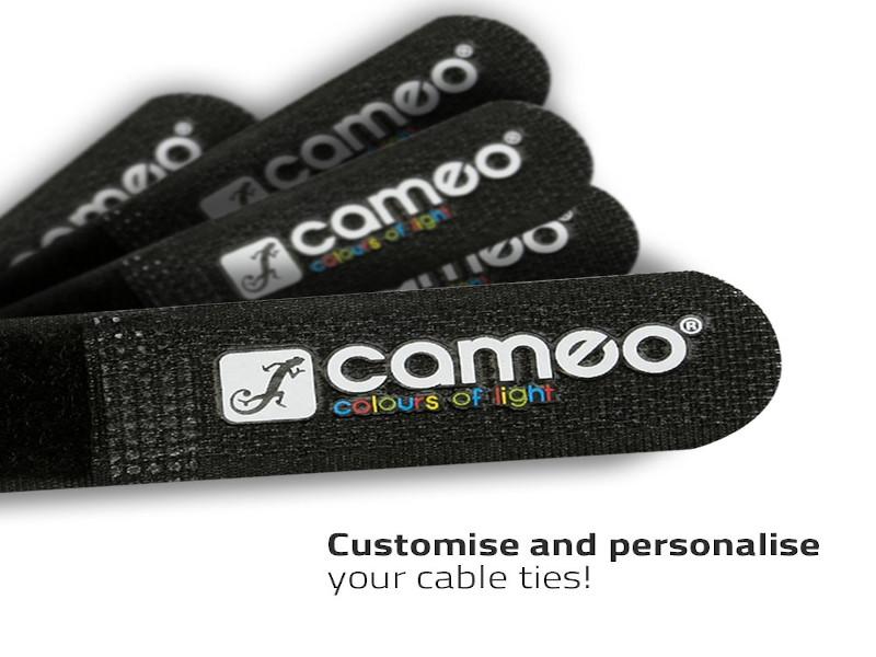 Adam Hall Vezice za kabel na čičak 200 x 20 mm crveno/crne