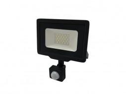 Optonica LED SMD reflektor crni 30W 2400LM AC220-265V 120° IP65 vodootporno 4500K prirodna bijela – sa senzorom