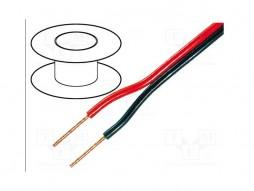 Tasker Zvučnički kabel crveno-crni 2×1,0mm 18,80 Ohm/km