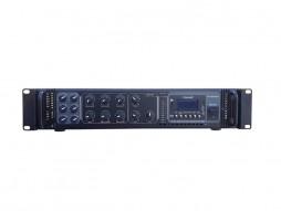 X-Audio Pojačalo 100V, 180W, MP3/USB/SDcard/Bluetooth, FM radio,Phantom 48V, 6 zona s regulacijom