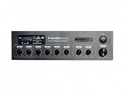 X-Audio Pojačalo 100V, 60W MP3/USB/SDcard/BT/FM radio, Phantom 48V