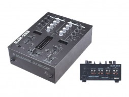 DJ mixer, 2 kanala + 1 mic, BPM counters – X-Audio