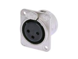 Neutrik Konektor ugradbeni XLR 3-polni Ž, srebrni