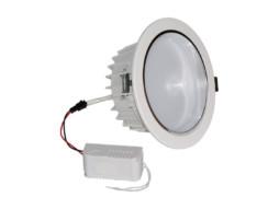 LED lampa ugradbena, 12x1W, bijelo kućište, (o130x65mm, rupa 140mm), 120°, topla bijela, dimabilna