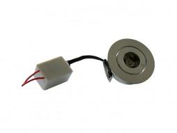 LED lampa ugradbena, 1x1W 60° topla bijela (50x26mm, rupa 40mm) 220V, Epistar chip