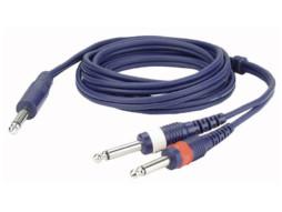 DAP Gotovi kabel Mono jack / 2 Mono jack Line / Instrumentcable, 3m