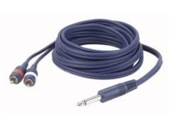 DAP Gotovi kabel mono jack 6,3mm / 2 RCA M, 3m