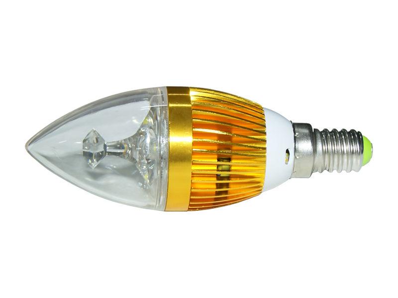 X-Light LED žarulja E14, Candle, 3x1W, o37x125mm, topla bijela 3000K