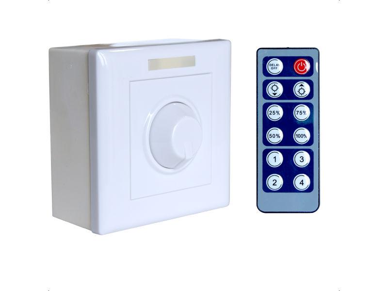 LED dimer zidni, 1-kanalni, 8A, 12/24V s daljinskim