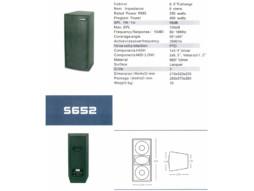 Zvučna kutija S-652, 2×6,5″, 250W RMS, 400W program – Suim