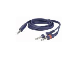 DAP Gotovi kabel Stereo jack 6,3mm / 2x mono jack 6,3mm, 3m