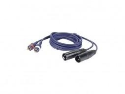 DAP Gotovi kabel 2x XLR M / 2x RCA, Line / Instrument kabel, 1,5m