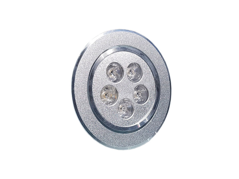X-Light LED lampa, ugradbena, 5x1W, 60°, hladna bijela, dimabilna, (Bridgelux led)