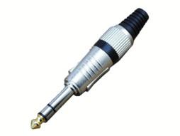 Konektor za kabel, banana 6,35mm, stereo