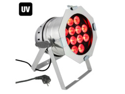 Cameo LED reflektor PAR 64, 12x10W, RGBWA + UV, 6u1, srebrni