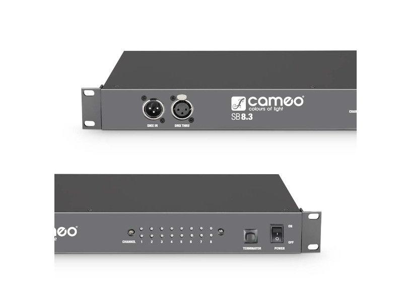 Cameo DMX splitter / booster, DMX (3-pinski, 8 kanalni DMX + terminator)