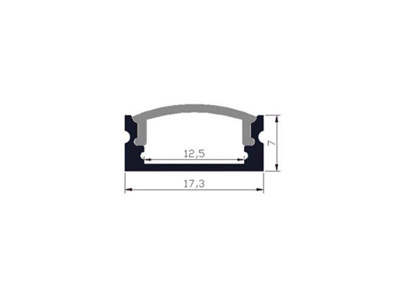 Aluminijski profil za LED traku ALP-13, Super Slim 2m + frost pokrov – X-Light