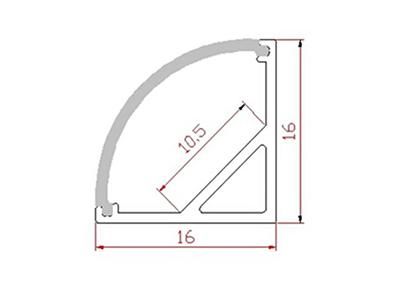 Aluminijski profil za LED traku ALP-10, kutni, 2m + frost pokrov