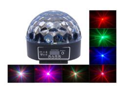 LED Magic Crystall Ball 8x3W RGBW efekt 20cm