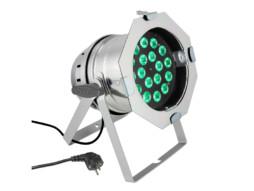 Cameo LED reflektor CLP64Q8WPS, PAR 64 CAN, 18 x 8W QUAD Colour LED, RGBW, srebrni
