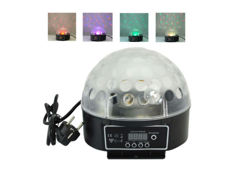 LED kugla 3x5W Pattern, RGB, DMX auto, zvuk