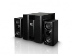 Razglas DAVE 8XSW, kompaktni aktivni PA sistem, crni – LD Systems