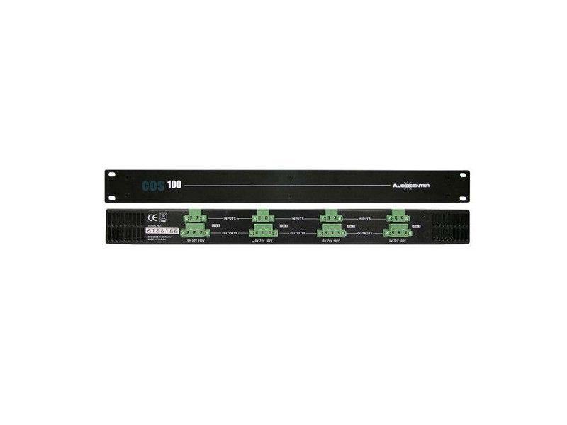 Audiocenter COS100 konverter iz ohmskog pojačala u 70V/100V 4 kanala x160W