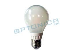 LED žarulja E27, s LED žarnom niti, 6W, topla bijela, mliječna – Optonica