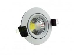 LED downlighter 8W okrugli rotirajući, prirodno bijela – Optonica